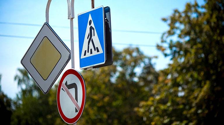 Новые дорожные знаки в городе Североуральске