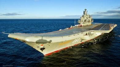 В Мурманске загорелся крейсер «Адмирал Кузнецов»