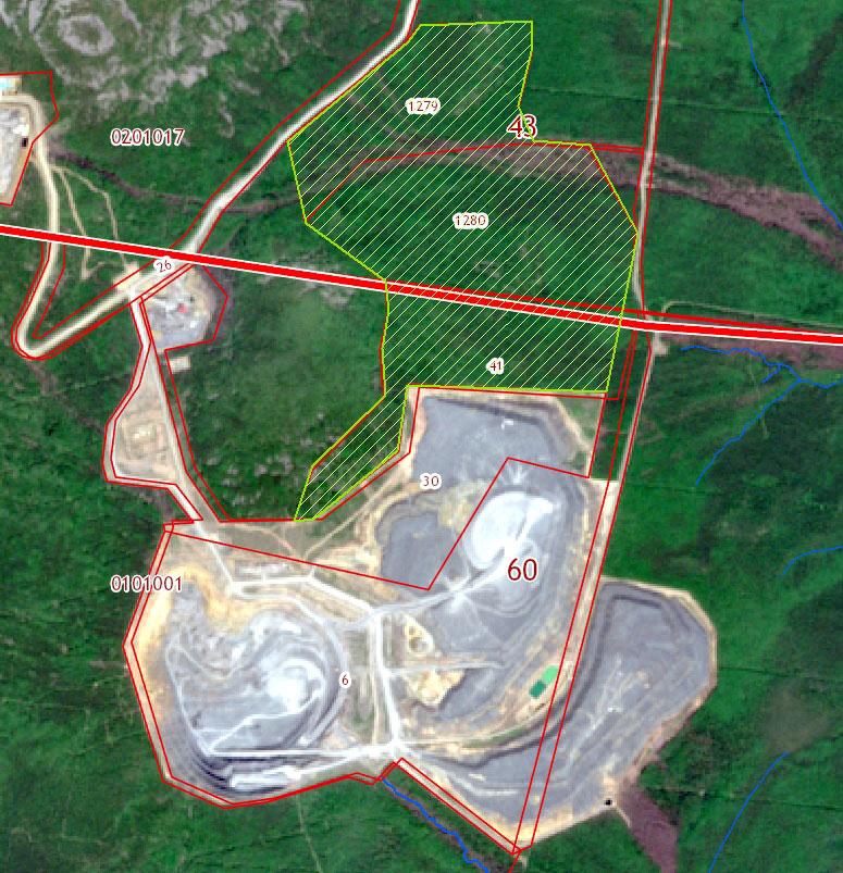Очертания нового склада на кадастровой карте