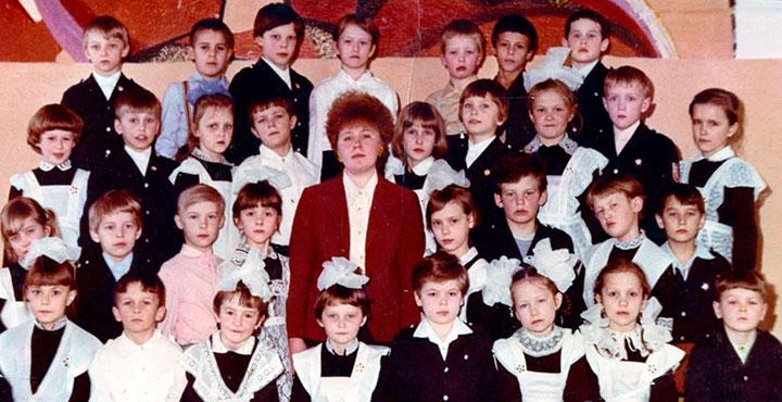 Дмитрий Шектаев в школе