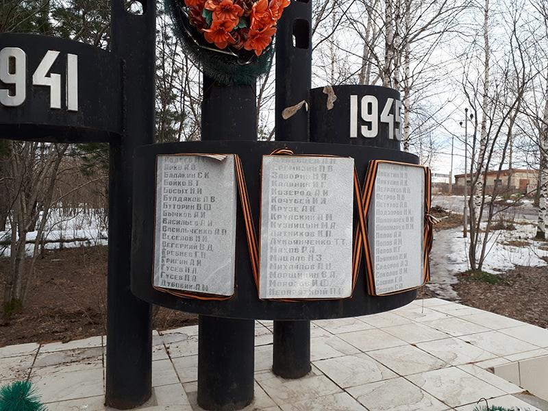 Памятник работникам СУКГРЭ, погибшим в годы Великой Отечественной войны