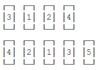 Схемы общего порядка старшинства для четного и нечетного количества флагов (при центрированном их расположении)